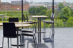 Área de assento moderna do bar do prédio de escritórios Fotografia de Stock