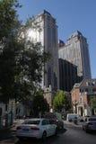 Área de cinco a grande avenidas na cidade do centro de Tianjin, China imagem de stock
