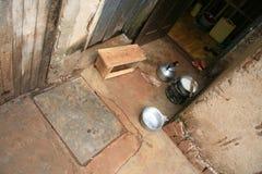 Área de cocinar simple, África Foto de archivo