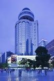 Área de compra de Nan Ping Jie no crepúsculo, Kunming, China Imagem de Stock Royalty Free
