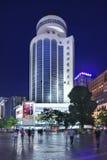 Área de compra de Nan Ping Jie no crepúsculo, Kunming, China Imagem de Stock