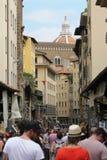 Área de compra ocupada em Florença, Itália Fotos de Stock