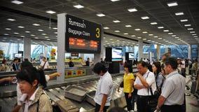Área de demanda de equipaje del aeropuerto Fotos de archivo libres de regalías