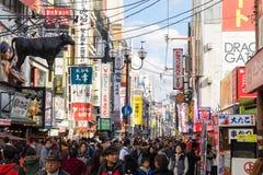 Área de Dotonbori, Osaka, Japão Imagem de Stock