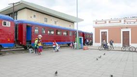 Área de embarque de la estación de Colombia Cajica metrajes