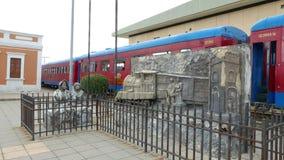 Área de embarque de la estación de Colombia Cajica almacen de video