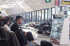 Área de espera do aeroporto Fotografia de Stock
