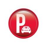Área de estacionamento circular do botão para veículos ilustração do vetor