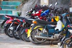 Área de estacionamento da motocicleta na frente do escritório Imagem de Stock Royalty Free