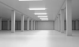 Área de estacionamento subterrânea 3d rendem os cilindros de image Fotografia de Stock Royalty Free