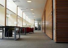 Área de estudo na biblioteca Imagens de Stock Royalty Free