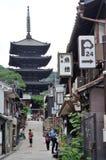 Área de Higashiyama imagens de stock