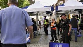 Área de investigación de la policía a continuación para la boda real