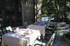 Área de jantar do restaurante Imagem de Stock