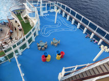 Área de jogo no navio de cruzeiros Foto de Stock Royalty Free