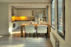 Área de la cocina Foto de archivo libre de regalías
