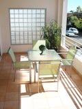 Área de la hospitalidad del balcón Foto de archivo