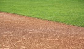 Área de la pista de aterrizaje americana del béisbol Fotografía de archivo