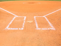 Área de la pista de aterrizaje del béisbol Foto de archivo libre de regalías