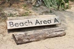 Área de la playa Foto de archivo libre de regalías