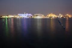 Área de la playa y de los hoteles de Eilat Foto de archivo