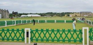 Área de la práctica, St Andrews Golf Course, Escocia Fotos de archivo
