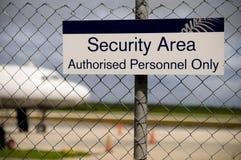 Área de la seguridad Imagen de archivo