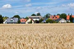 Área de la vivienda en paisaje cerca de Munich Imagen de archivo libre de regalías