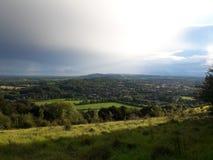 Área de las colinas de Surrey de la belleza natural excepcional 2 fotos de archivo libres de regalías