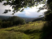 Área de las colinas de Surrey de la belleza natural excepcional imagen de archivo