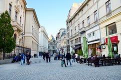 Ciudad vieja de Bucarest Foto de archivo libre de regalías