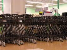 Área de los carros de compras Imagen de archivo libre de regalías