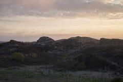 Área de los cráteres cerca de Reykjavik Imagen de archivo