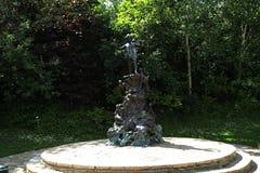 Área de los jardines y de Hyde Park de Kensington Fotografía de archivo