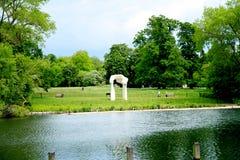 Área de los jardines y de Hyde Park de Kensington Imágenes de archivo libres de regalías