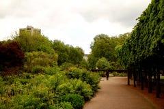 Área de los jardines y de Hyde Park de Kensington Imagen de archivo libre de regalías
