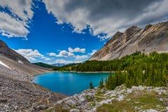 Área de los lagos del tarro de la salmuera en el verano Imagenes de archivo