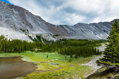 Área de los lagos del tarro de la salmuera en el verano Foto de archivo libre de regalías