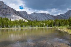 Área de los lagos del tarro de la salmuera en el verano Fotografía de archivo libre de regalías