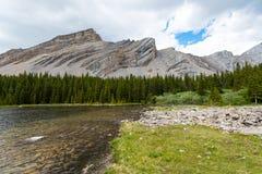 Área de los lagos del tarro de la salmuera en el verano Imagen de archivo
