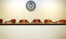 Área de los miembros del jurado Fotografía de archivo libre de regalías