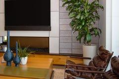 Área de lujo de la sala de estar del hogar de la mansión Imagen de archivo