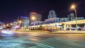 Área de Miami Dadeland por noche almacen de video