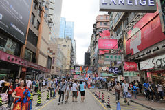 Área de Mongkok Mong Kok é caracterizado por uma mistura imagens de stock