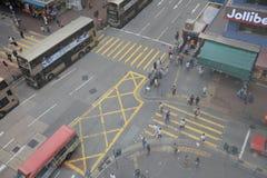 Área de Mongkok Mong Kok é caracterizado por uma mistura imagem de stock