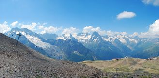 A área de montanha de Dombay Imagem de Stock