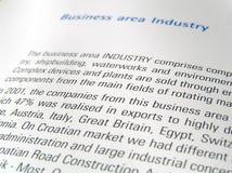 Área de negócio Imagens de Stock