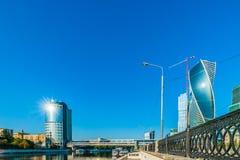 Área de negócio nova de Moscou Imagem de Stock Royalty Free