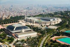 Área de Olimpic de Montjuic Barcelona Fotografía de archivo libre de regalías