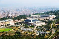 Área de Olimpic de Montjuic Barcelona Fotos de archivo